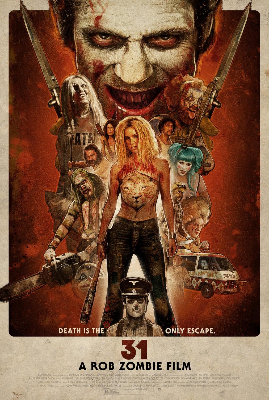 Póster definitivo de '31' de Rob Zombie