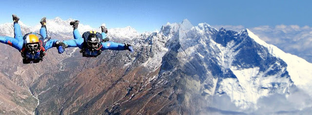 Skydiving in Nepal