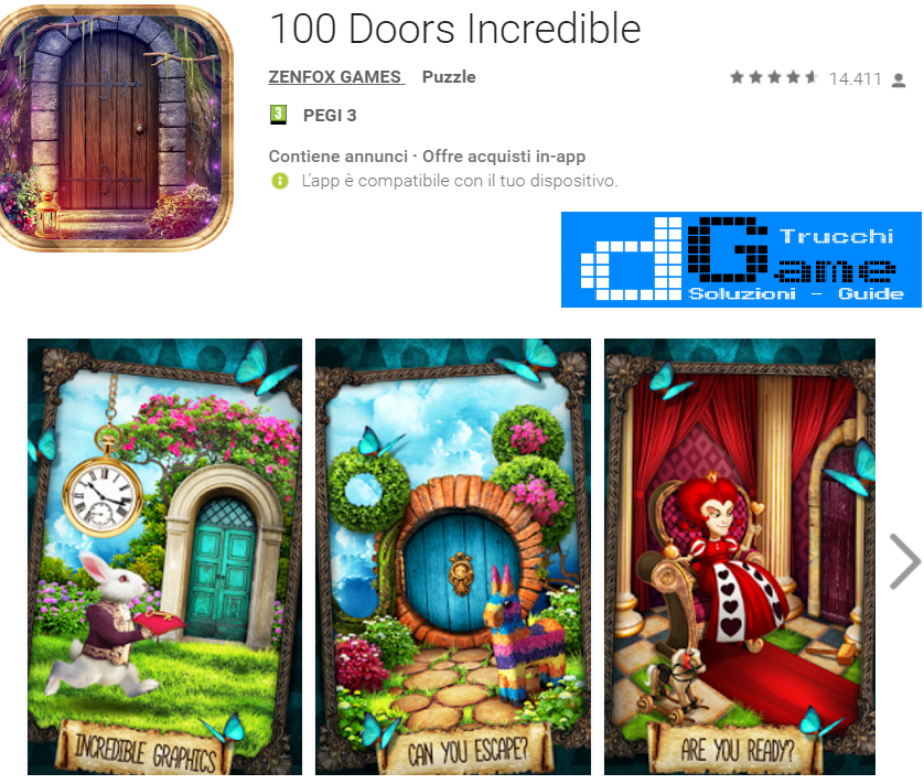Soluzioni 100 Doors Incredible livello 111 112 113 114 115 116 117 118 119 120 | Trucchi e  Walkthrough level