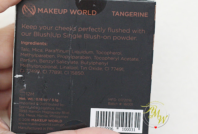 a photo of Makeup World Blush|Up Single Blush Powder in Tangerine