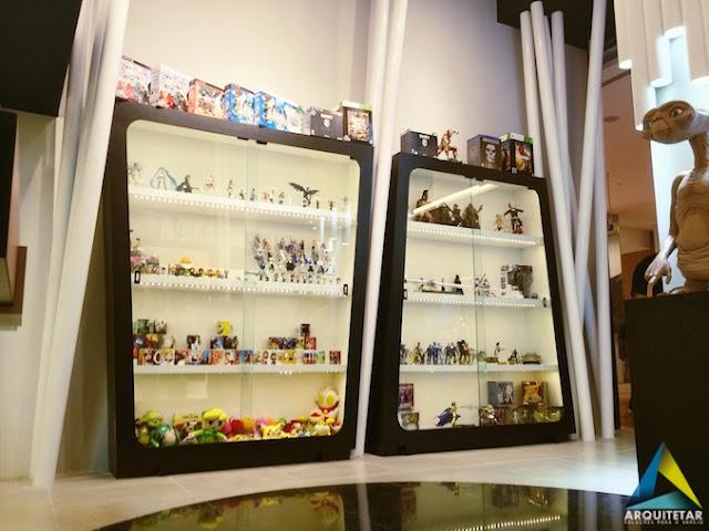 projeto arquitetura loja action figures colecionáveis geek nerd