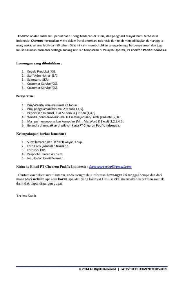 lowongan pt chevron 2017, pt chevron pacific, alamat pt chevron, lowongan kerja migas chevron indonesia terbaru, lowongan kerja pt chevron 2018, chevron lowongan kerja fresh graduates, penipuan pt chevron, lowongan kerja chevron 2018, ben-jobs.blogspot.com