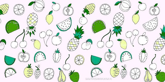 228* Owocowy wzór (pattern) do kolorowania