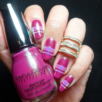 Fuchsia Flash Nail Art