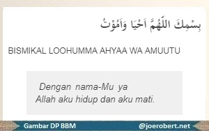 berdoa sebketika mau tidur