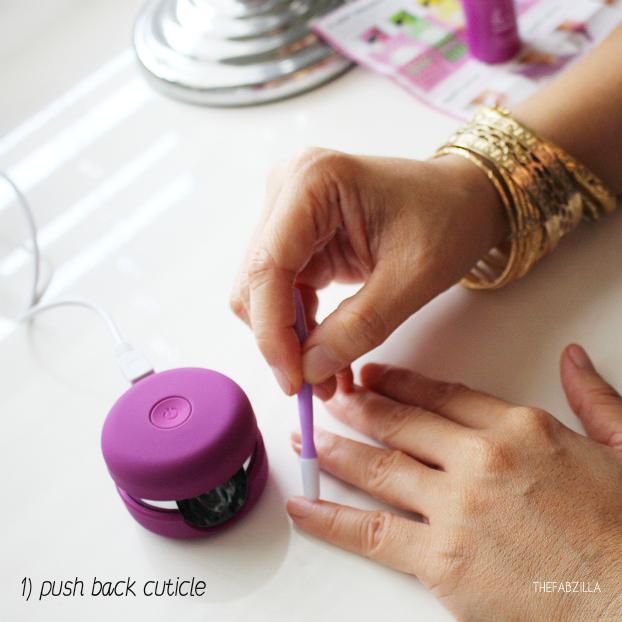 DIY gel manicure, how to use le mini macaron gel manicure kit, review le mini macaron gel manicure kit