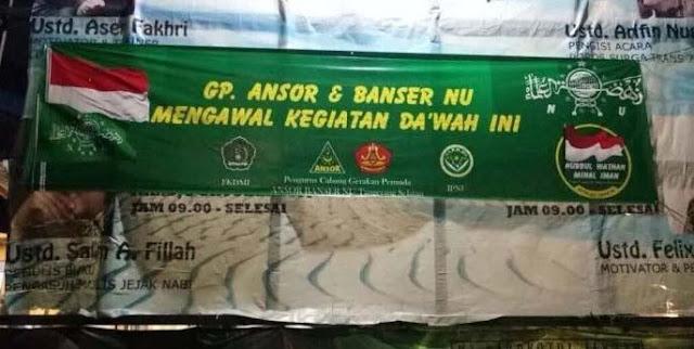 PCNU Jakarta Utara Apreasiasi Kajian Ustadz Felix Siauw Yang Dikawal Banser