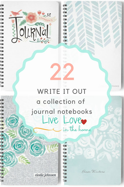 Journal Notebook Collection Under 20 Dollars by Live Love in the Home