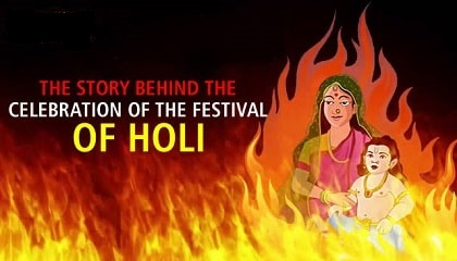holi story with pictures, story of holi in hindi, history of holi