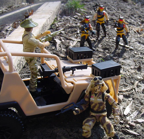 1985 Dusty, 2001 Desert Striker, 1984 Recondo, 1991 Desert Scorpion