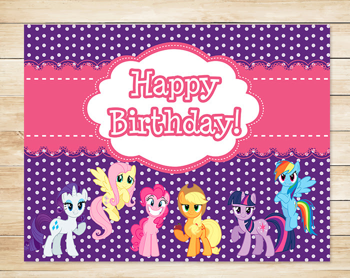 Free Printable My Little Pony Birthday Sign Free My Little Pony Printables