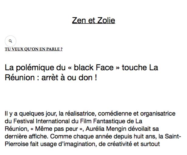 Le Festival MEME PAS PEUR dans le blog Zen et Zolie