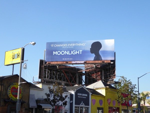 Moonlight Oscar nominee billboard