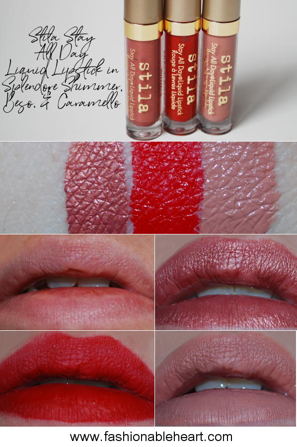 bbloggers, bbloggersca, canadian beauty bloggers, beauty blog, product review, swatches, hand, lips, stila, stay all day, liquid lipstick, set, trio, sephora, sephora canada, splendore shimmer, beso, caramello, holiday 2017, hand swatch, review, vib sale haul, warm & fuzzy, warm and fuzzy
