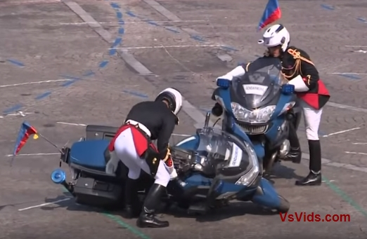 French Police vs. Crash During Bastille Day Parade Caught On Tape