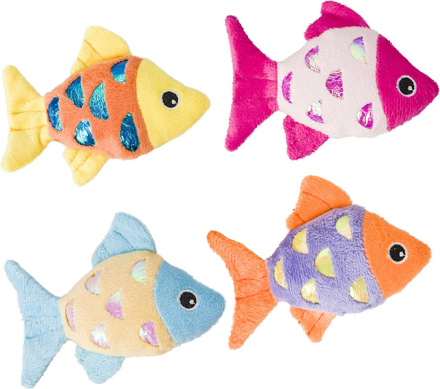 Ethical Pet Shimmer Glimmer Fish with Catnip Cat Toy, Color Varies