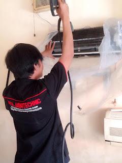 cara membersihkan indoor ac split