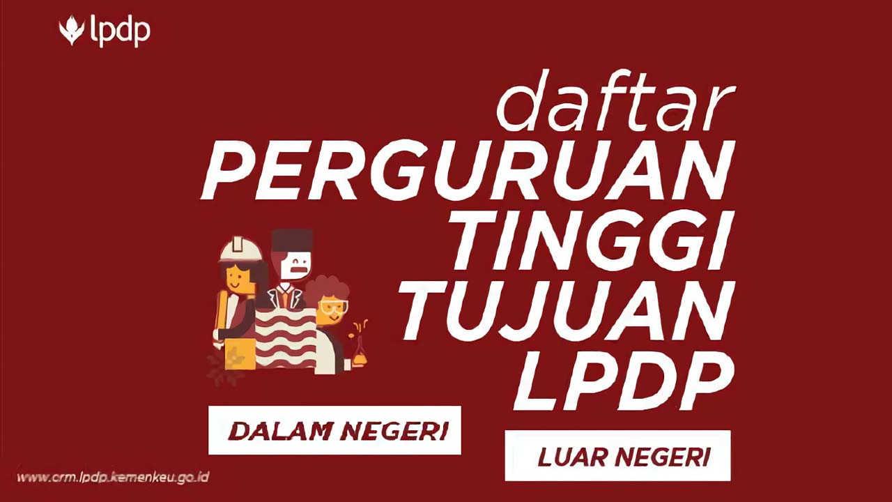 daftar universitas LPDP 2018