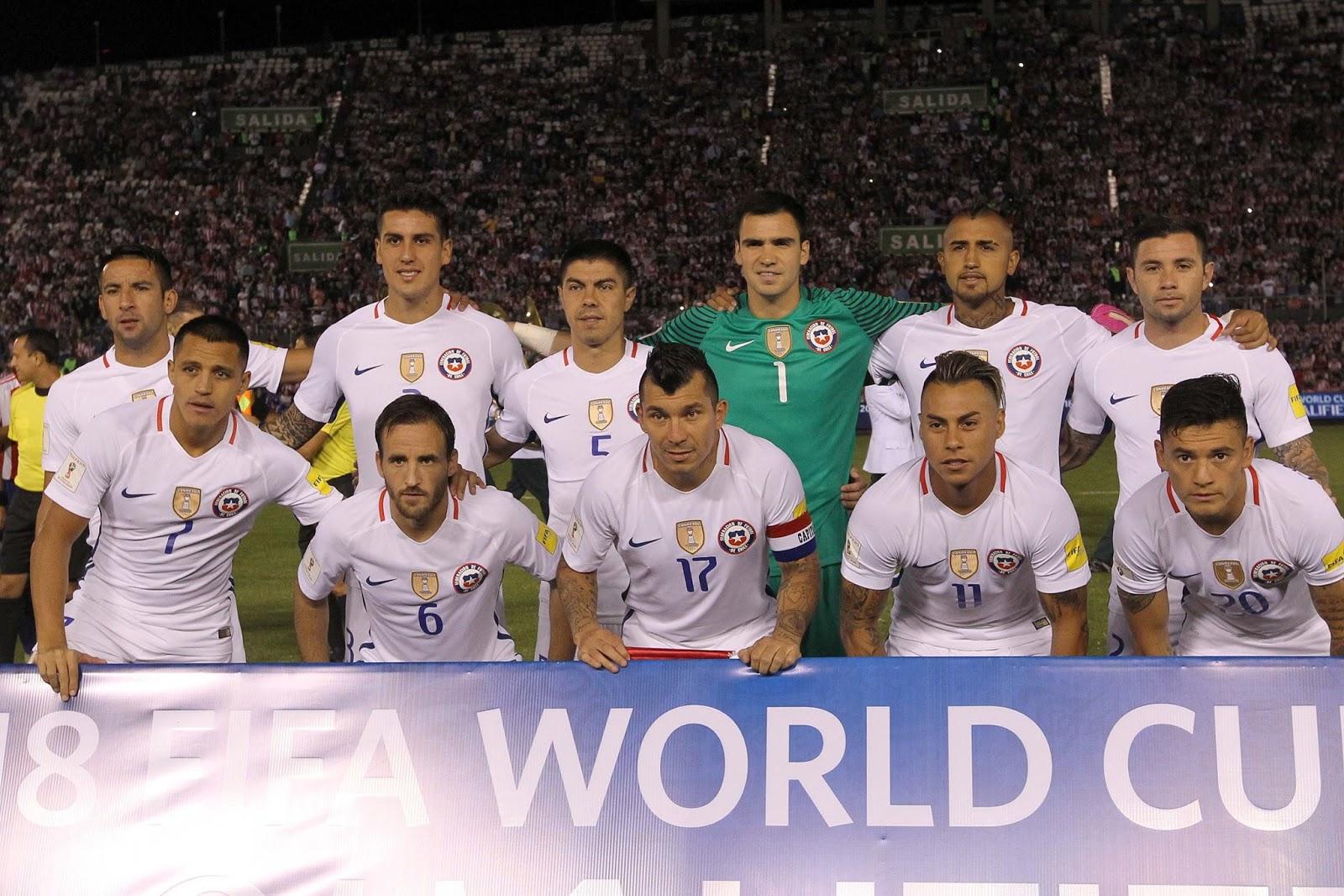 Formación de Chile ante Paraguay, Clasificatorias Rusia 2018, 1 de septiembre de 2016
