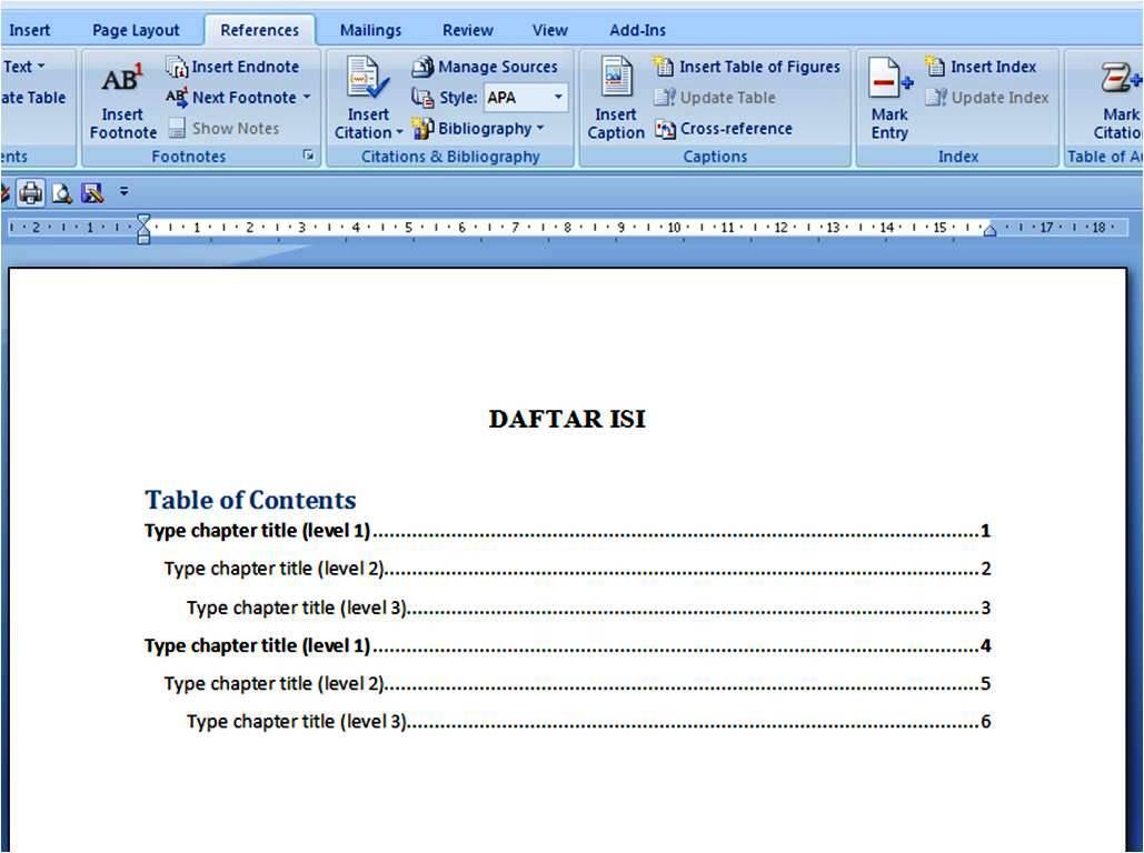 Mohammadrafi Daftar Isi Otomatis Dan Manual