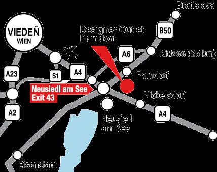 ab9831c2c4 Výpredaje v Parndorfe - Outlet McArthurGlen v Rakúsku - MAPA