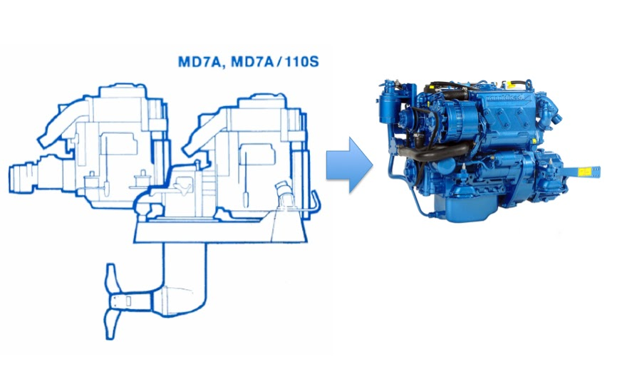 Cruising and racing in the Baltic: Re-powering from MD7A to ... on volvo md11c, volvo marine parts, volvo penta,
