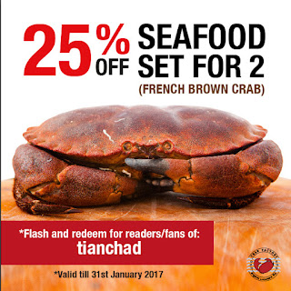 25% off for the French Brown Crab Seafood Set at Crab Factory SS2