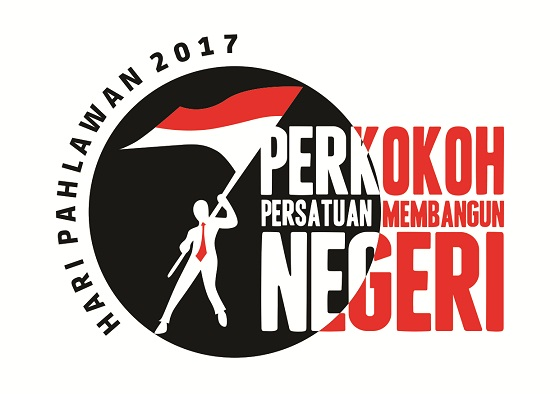 Logo dan Hashtag Hari Pahlawan Tahun 2017