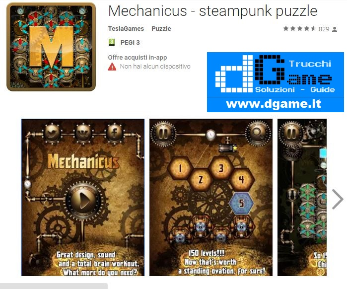 Soluzioni Mechanicus - steampunk puzzle di tutti i livelli | Walkthrough guide