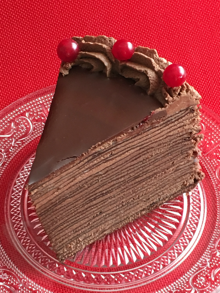 Como He Puesto La Cocina Tarta De Crepes De Chocolate
