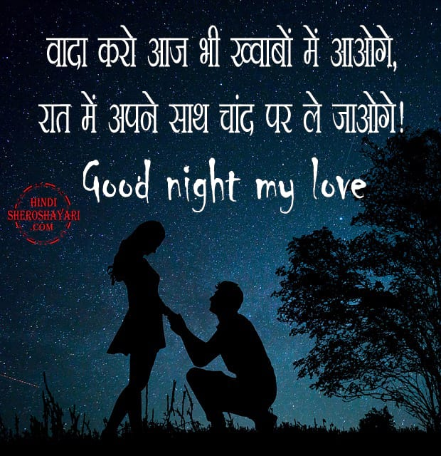 Romantic Hindi Good Night Quotes