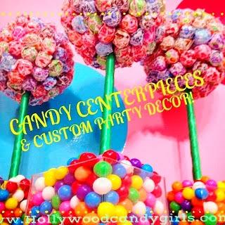 Wondrous Candy Centerpieces Custom Lollipop Decor Rainbow Candy Beutiful Home Inspiration Xortanetmahrainfo