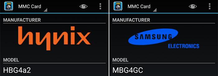 eMMCのメーカーはサムスンやSKハイニックス