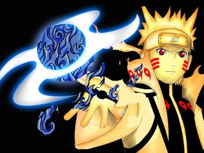 Pada pertarungan puncak antara Sasuke dan Naruto vs Kaguya 9 Jenis Rasenshuriken mode Sage