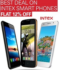 Intex Android Smart Phone: Flat 12% Extra Off – starts from Rs.2933 Only @ Ebay