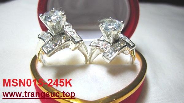 TrangSuc.top - Nhẫn đính đá trắng cao cấp MSN015 - 245.000 VNĐ Liên hệ: 0906 846366(Mr.Giang)