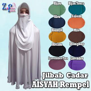 Grosir Jilbab Syar'i Aisyah dengan Cadar Terbaru Murah