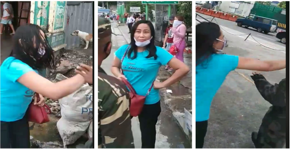 Woman caught for breaking quarantine rules, hurting checkpoint officials and grabbing the ID of an army reserve | Pinoy Trend