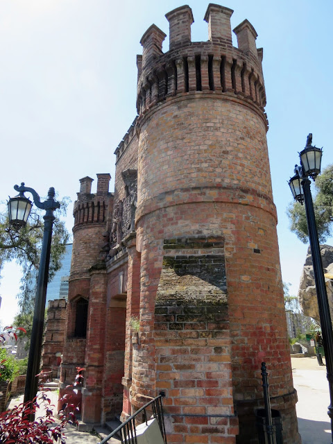 Brick gate on Santa Lucia Hill in Santiago Chile