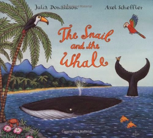 The Snail and the Whale by Julia Donaldson, included in a book review list of ocean books for preschoolers