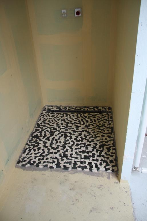 peinture douche. Black Bedroom Furniture Sets. Home Design Ideas