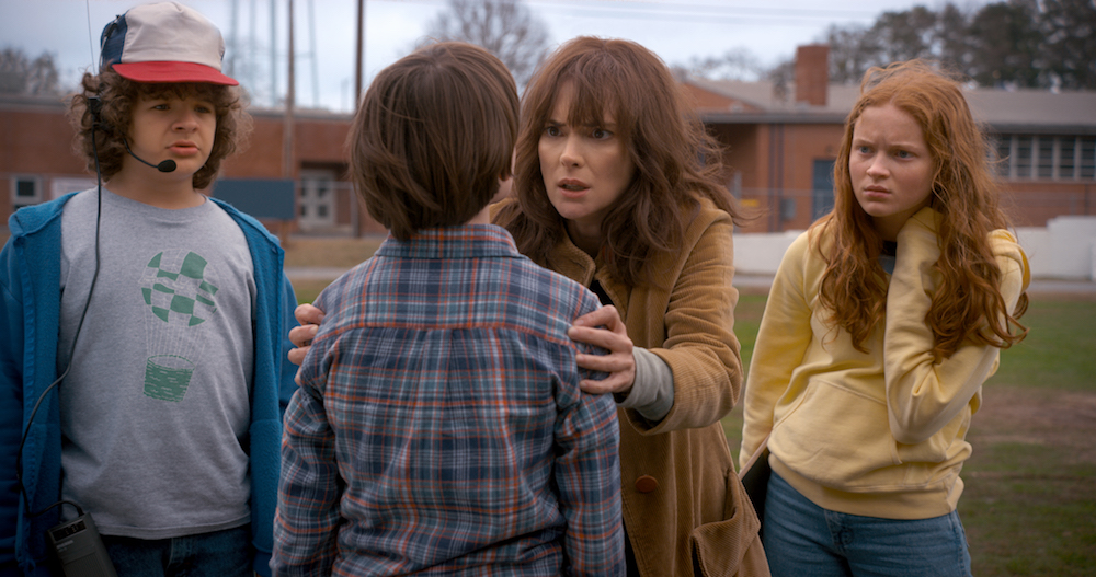 Dustin, Will, Joyce y Max en la segunda temporada de 'Stranger Things'