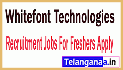 Whitefont Technologies Recruitment Jobs For Freshers Apply