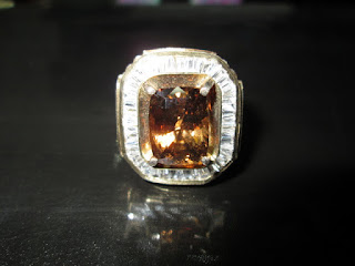 batu permata brown zircon rare item