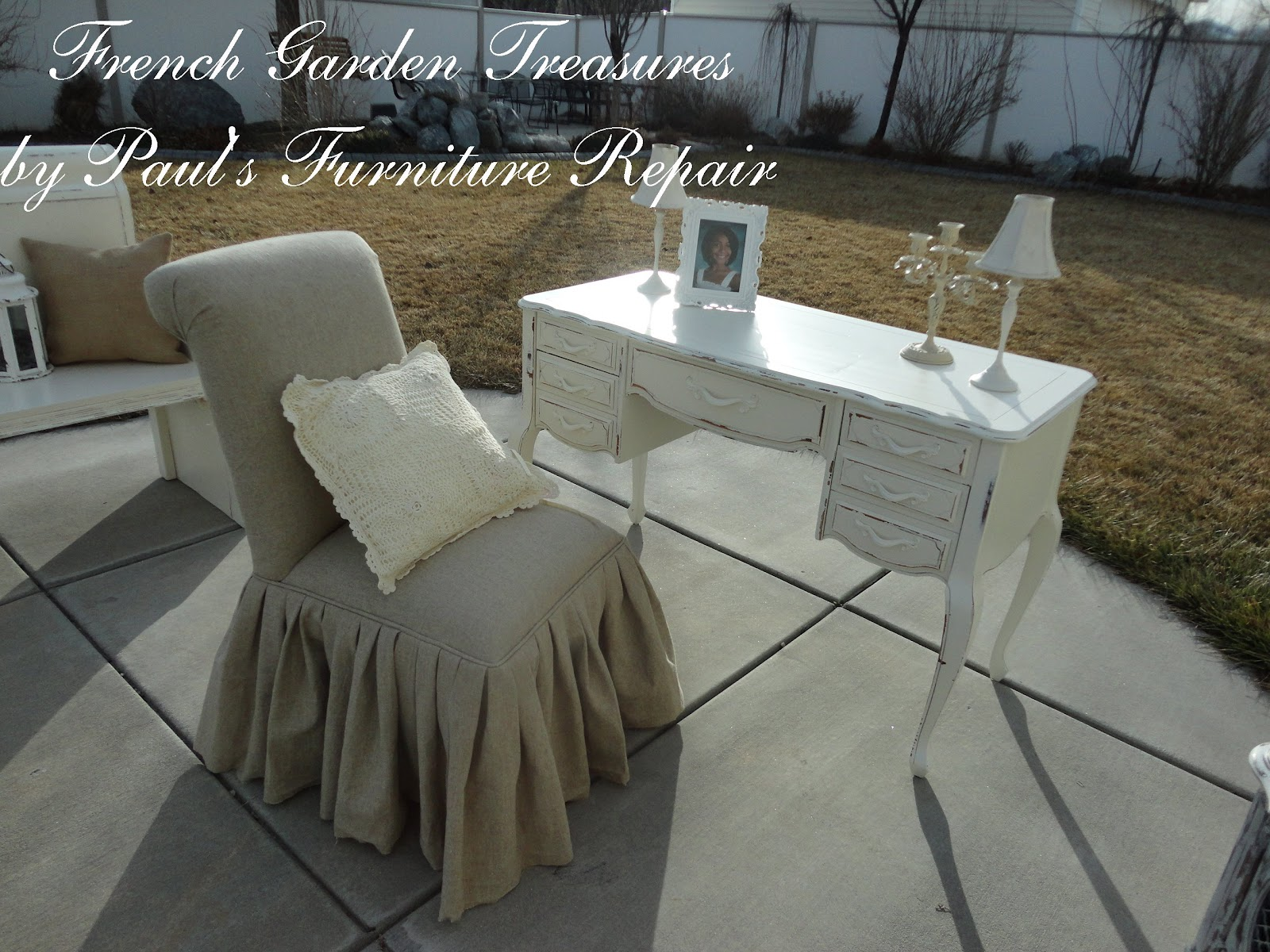 Feminine Executive Office Chairs Grey Chair French Garden Treasures