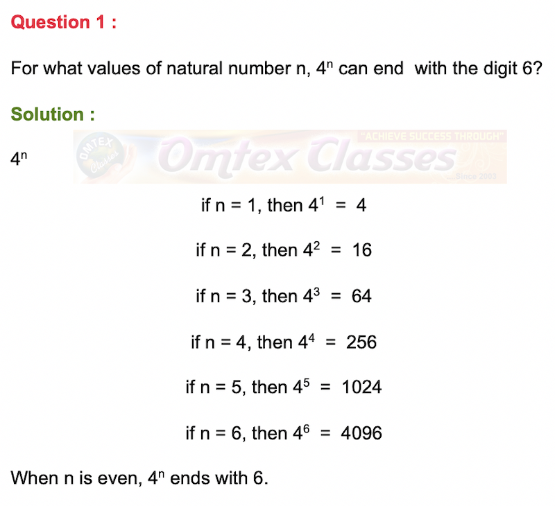 For what values of natural number n, 4n can end  with the digit 6?