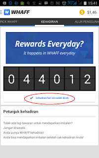 waf harian Tutorial Lengkap Cara menjalankan Aplikasi Whaff Rewards di Android