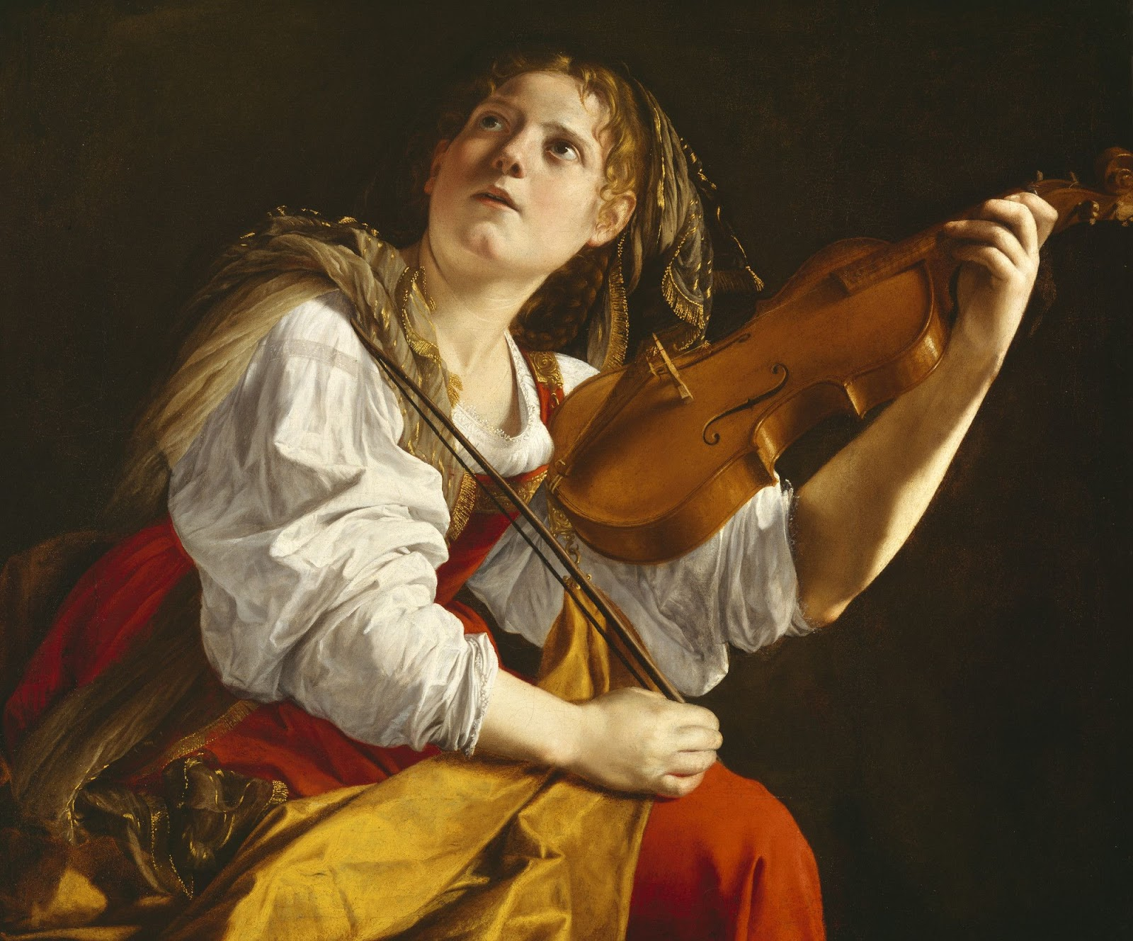Orazio Gentileschi Young Woman with a Violin Saint Cecilia