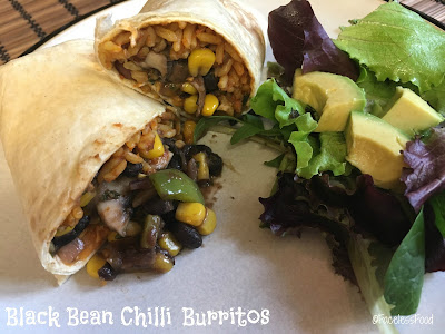 Black Bean Chilli Burritos