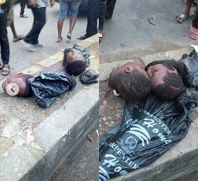 Two human heads discovered inside dumped polythene in Rivers State .